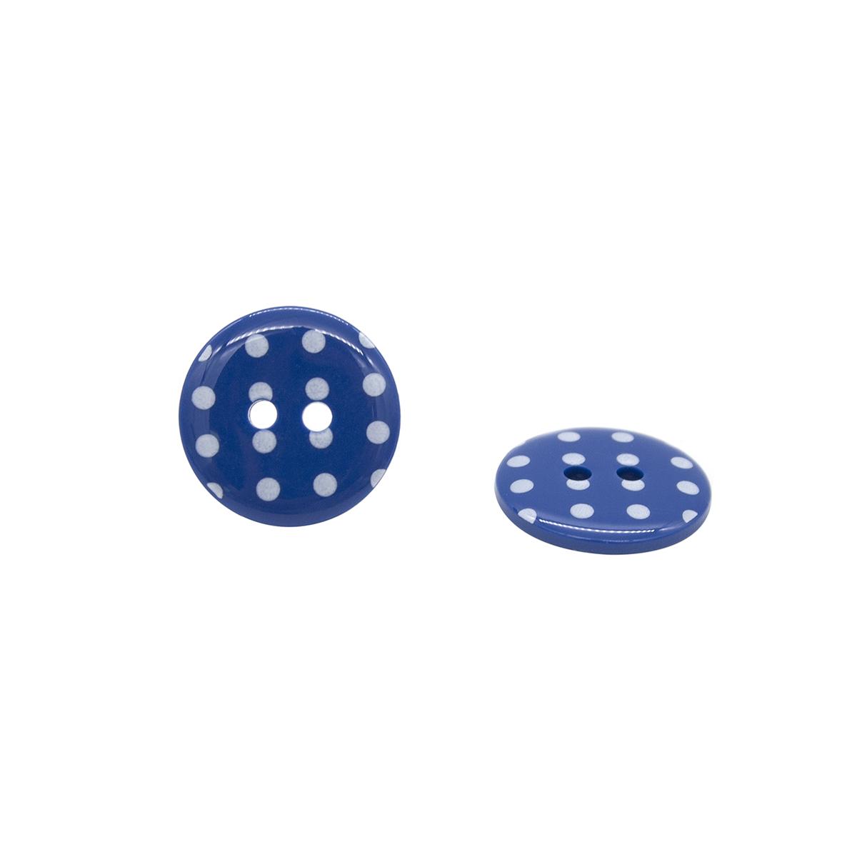 Q7125 FSS Пуговица, Горошек 28L (765 синий)