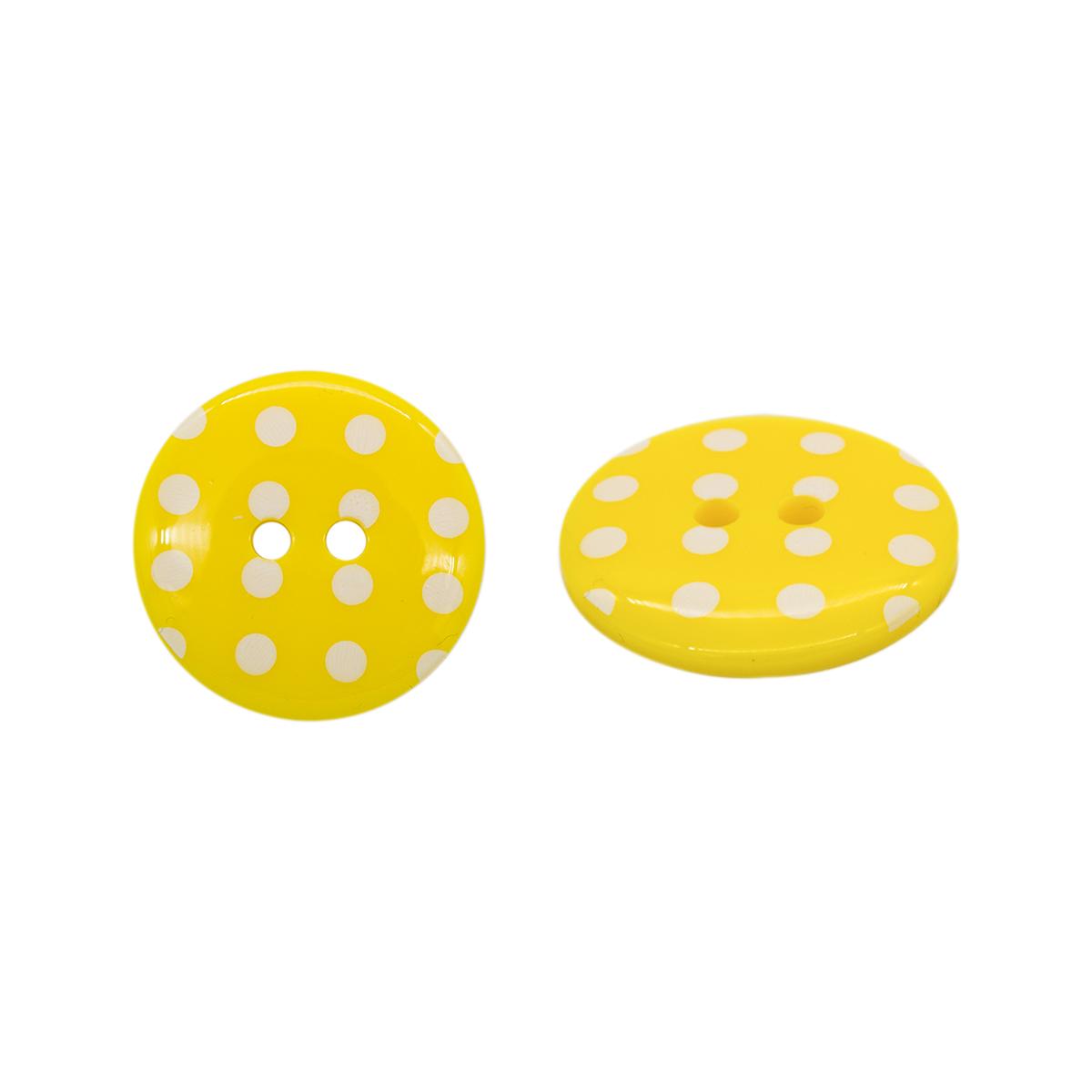 Q7125 FSS Пуговица, Горошек 36L (113 желтый)