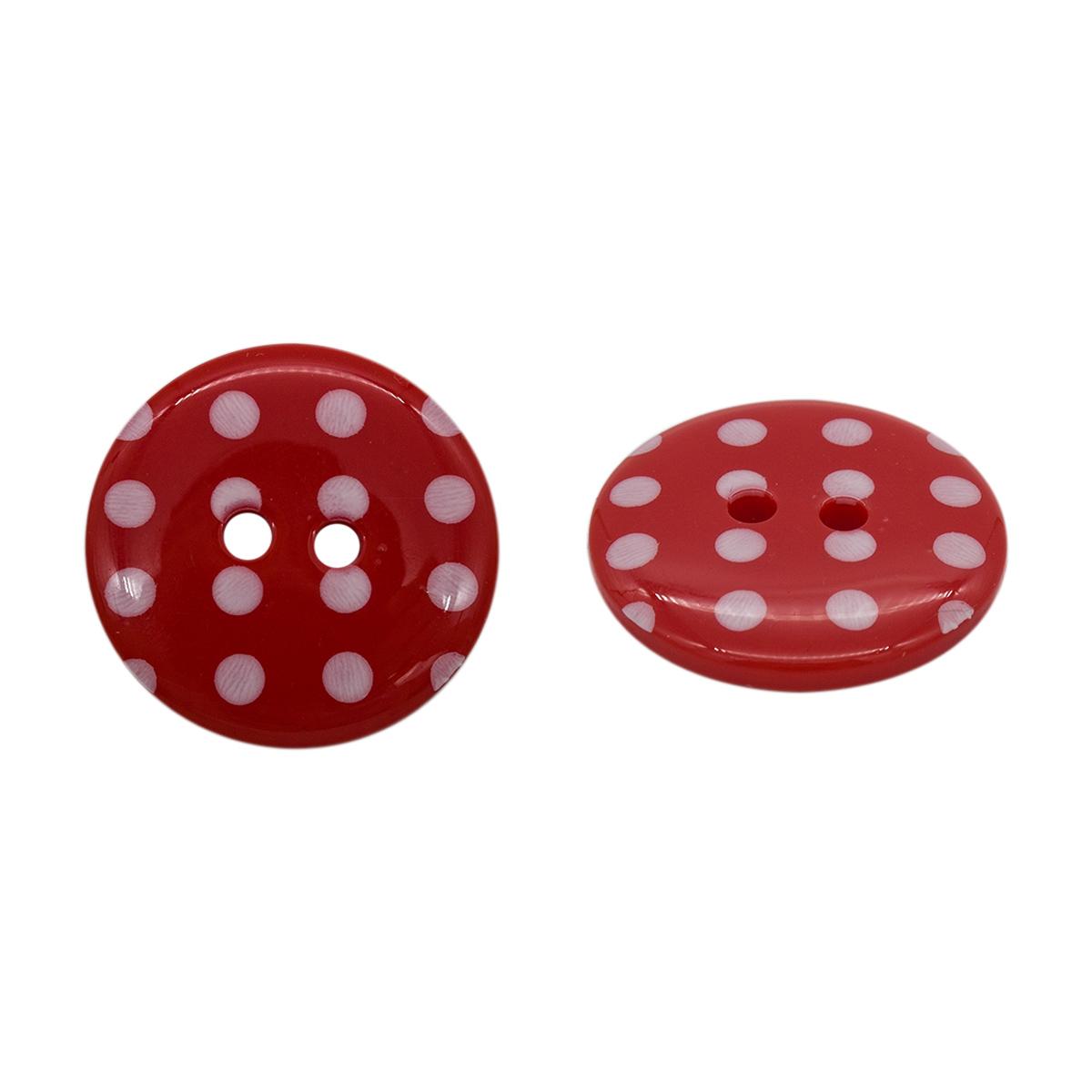 Q7125 FSS Пуговица, Горошек 36L (329 красный)