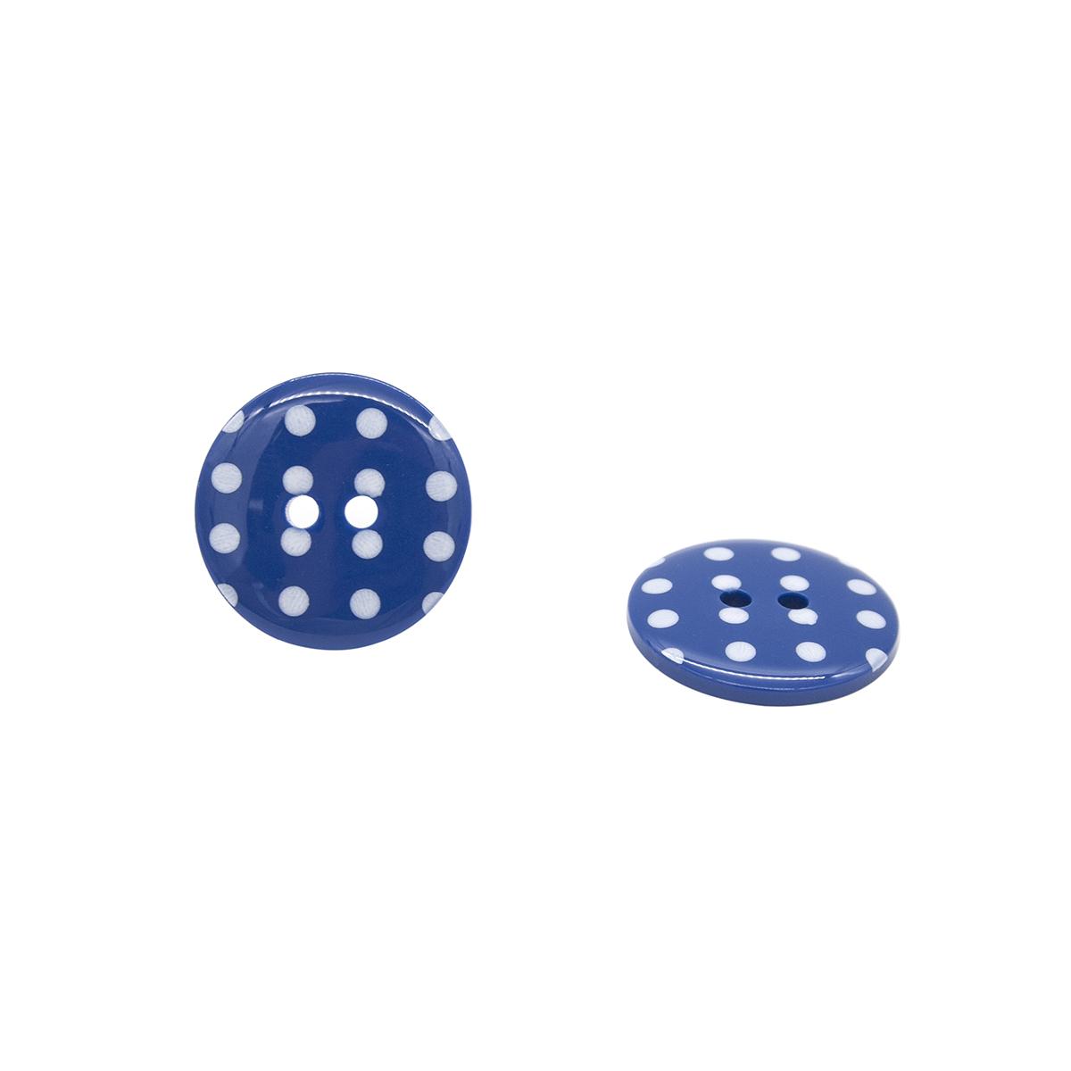 Q7125 FSS Пуговица, Горошек 36L (765 синий)