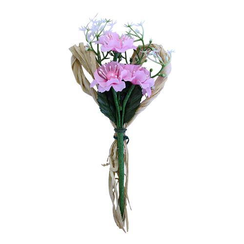 SM16-272 Декоративный букетик, розовый 15*7см Астра