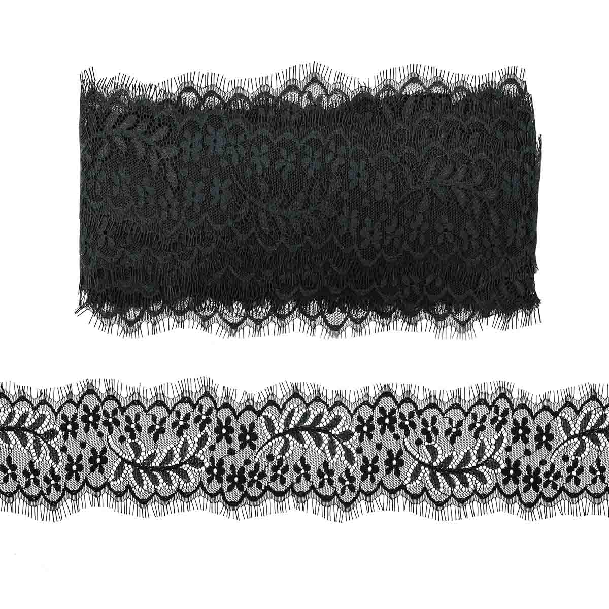 SJ061 Кружево 'Шантильи' на сетке 8,0см*13,71м