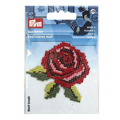 926494 Термоаппликация 'Роза', красный Prym фото