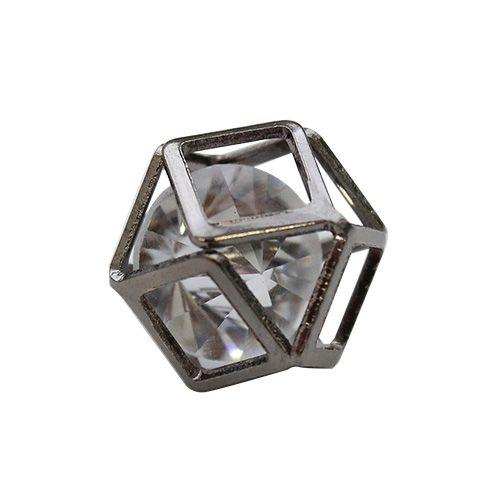 Бусины со стразами Куб, 5 шт/упак