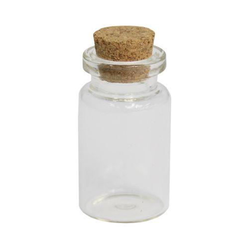 S20493342D Стеклянные бутылочки с пробкой, 2,2*4см, 4шт/упак. Астра
