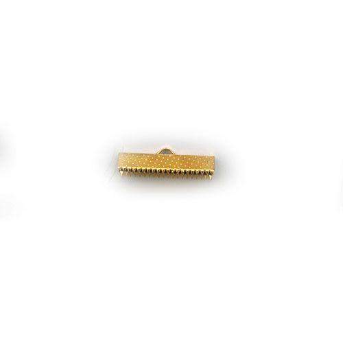 Зажим для ленты 2,5*1 см, 10шт/упак (золото)