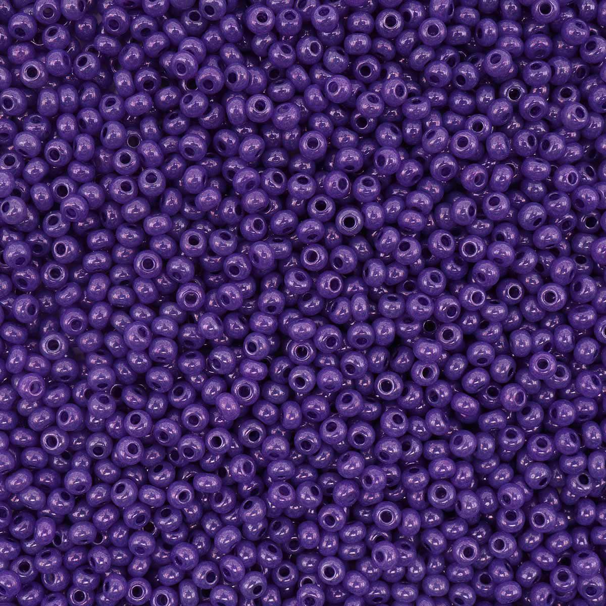 (17328) 331-19001-10/0 Бисер алебастр с блест.покрытием и цв.центром 10/0, круг.отв., 20гр Preciosa
