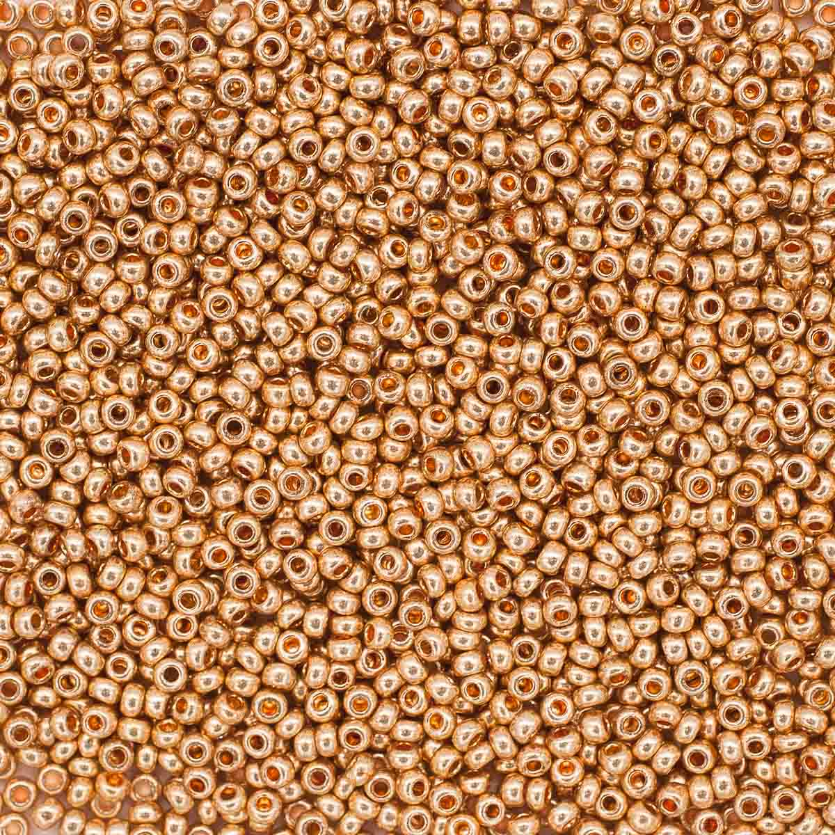 (18184) 331-19001-10/0 Бисер золото 10/0, круг.отв., 20гр Preciosa