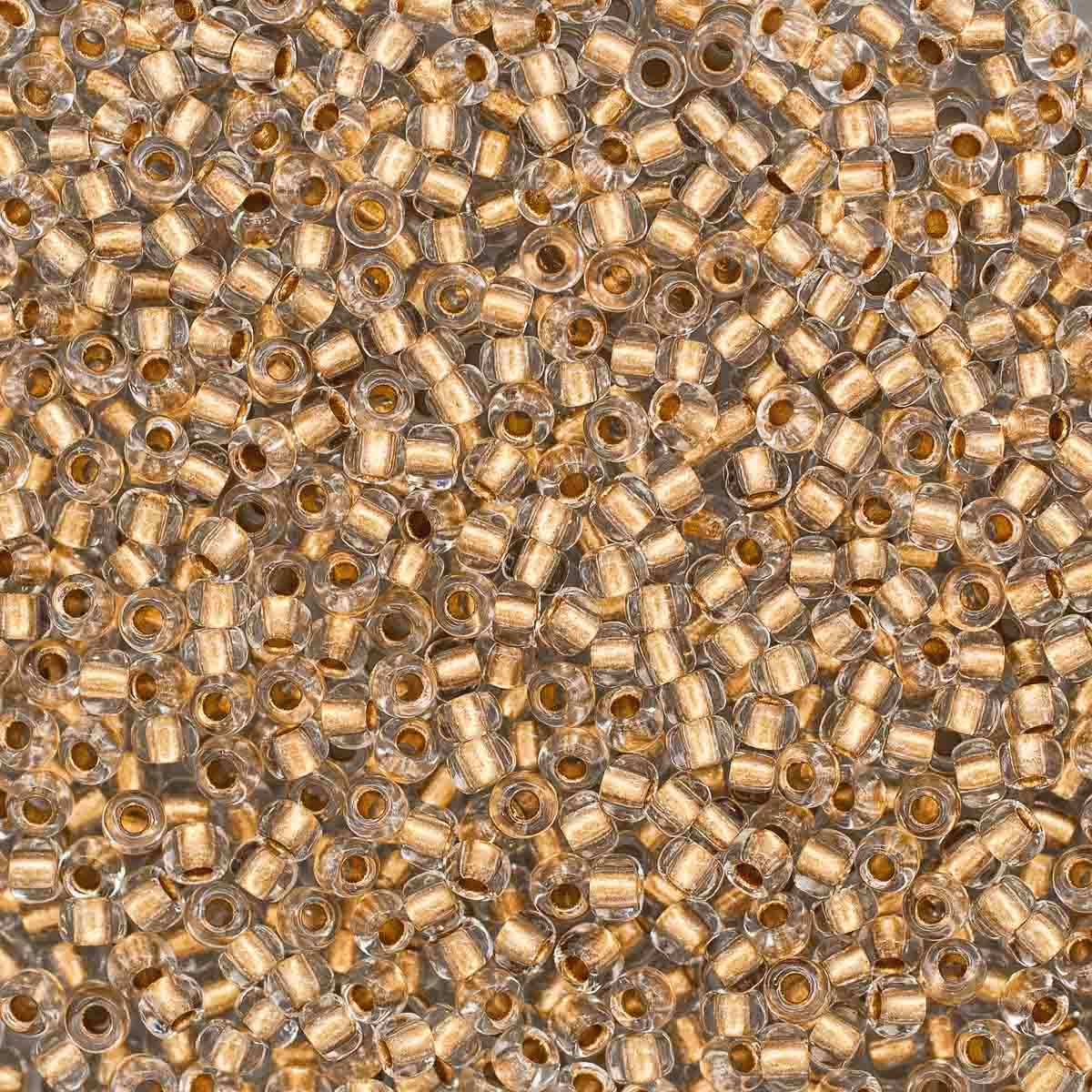 331-19001-10/0-68106 Бисер прозрачный с бронзовым центром 10/0, круг.отв., 20гр Preciosa