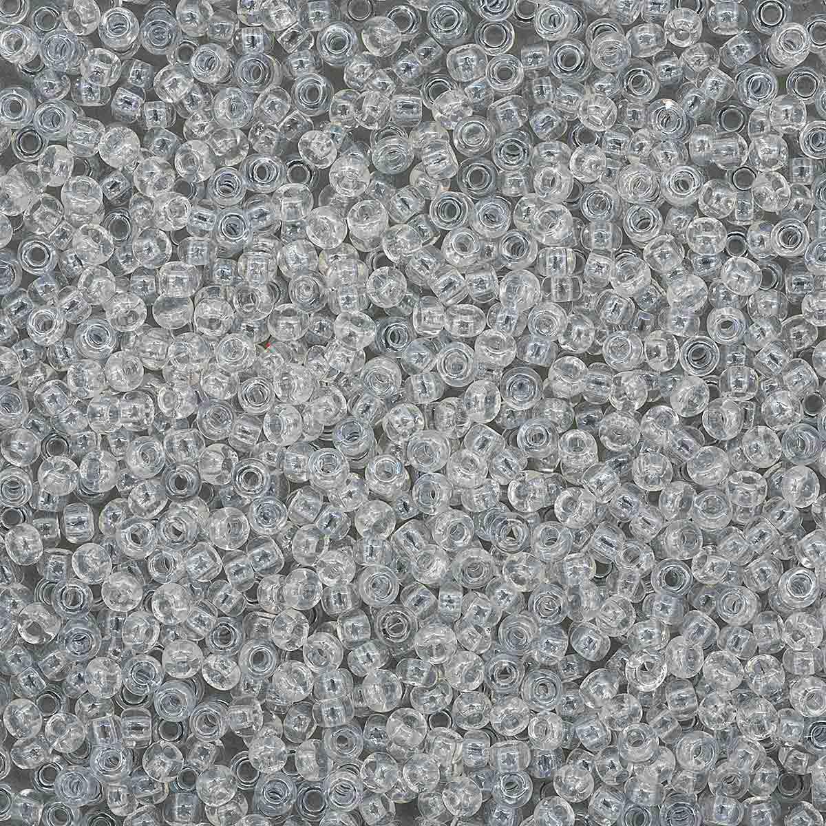 331-19001-10/0-48102 Бисер прозрачный с жемчужным покрытием 10/0, круг.отв., 20гр Preciosa