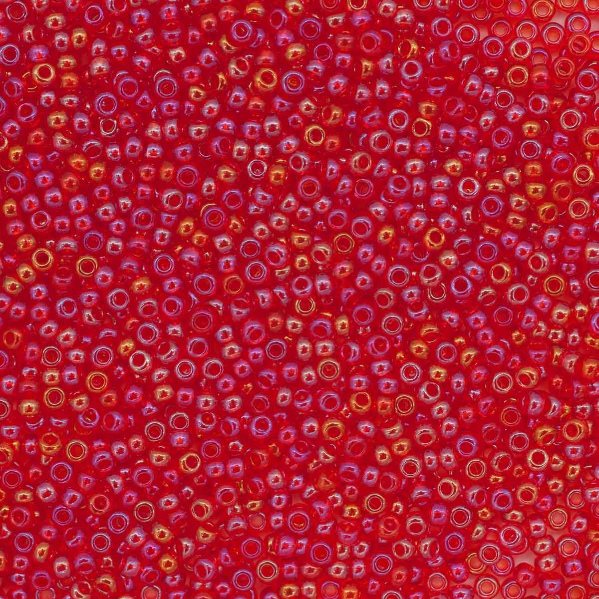 331-19001-10/0-91050 Бисер прозрачный радужный 10/0, круг. отв., 20 гр., Preciosa