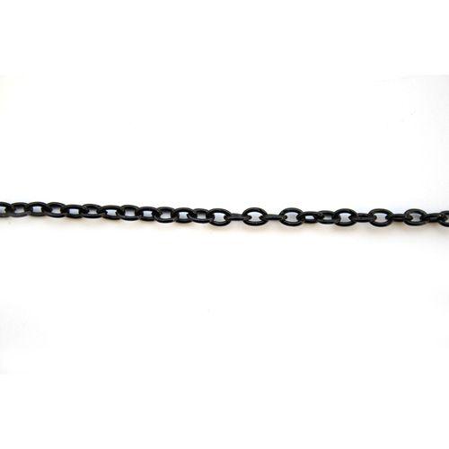 Цепочка (мелкое звено) 55 см, цвет черный.