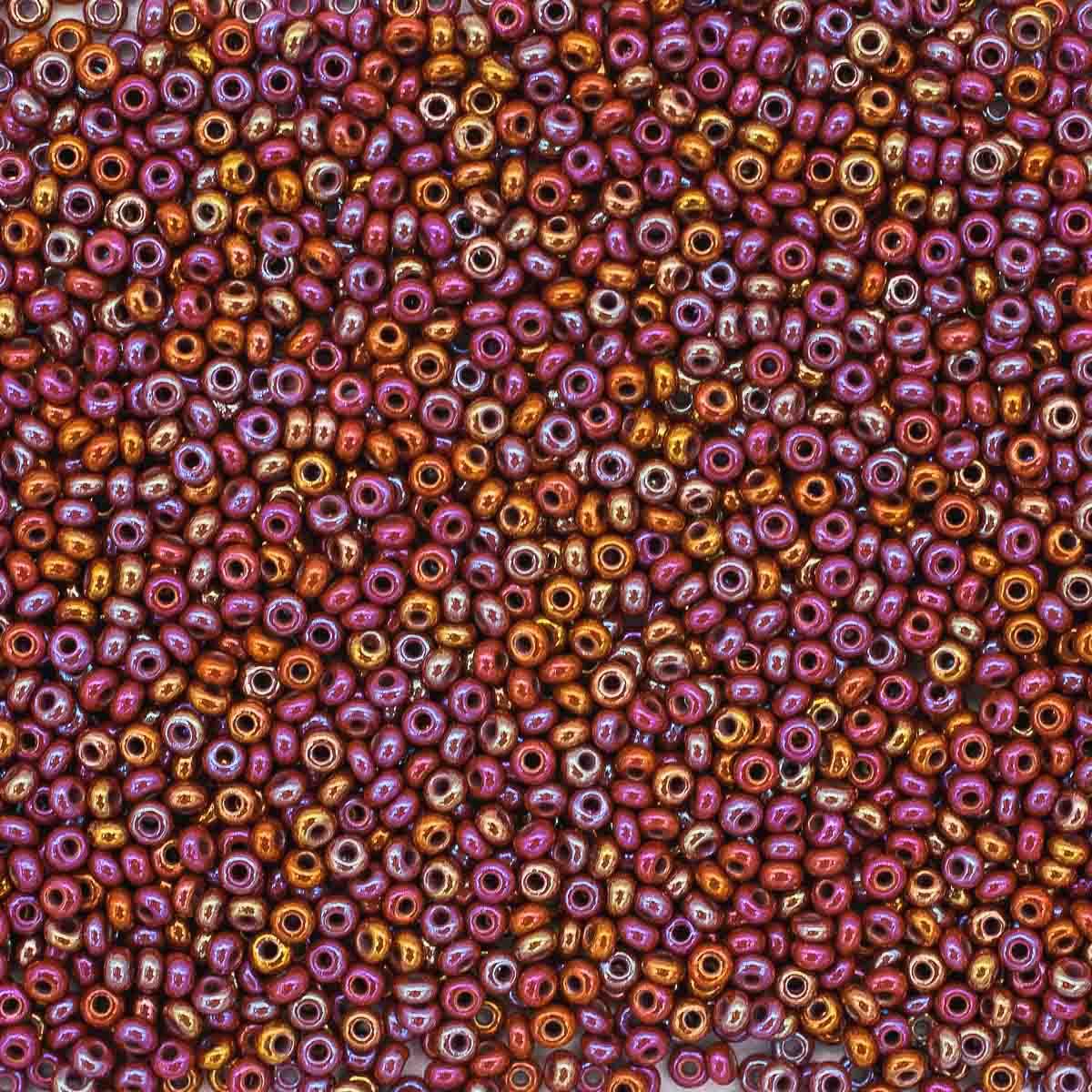 (14600) 331-19001-10/0 Бисер непрозрачный радужный 10/0, круг.отв., 20гр Preciosa фото