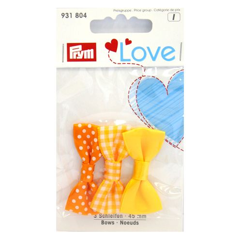 931804 Prym Love Ленты 45мм желтый 3шт Prym