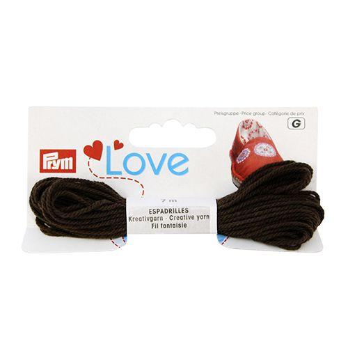 932612 Декоративная нить для эспадрильи 7м шоколадный Prym