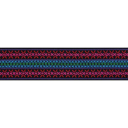 957451 Эластичная лента Color 50мм*7м Узор розовый яркий Prym