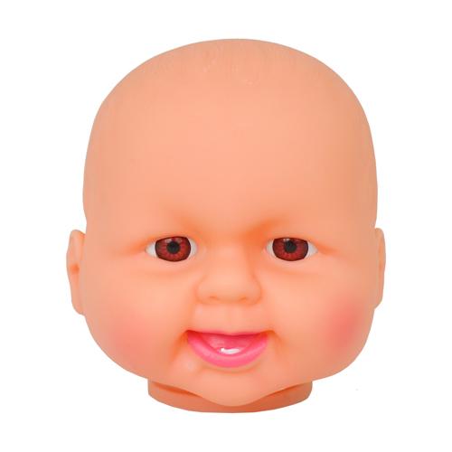 Голова куклы без волос 9 см