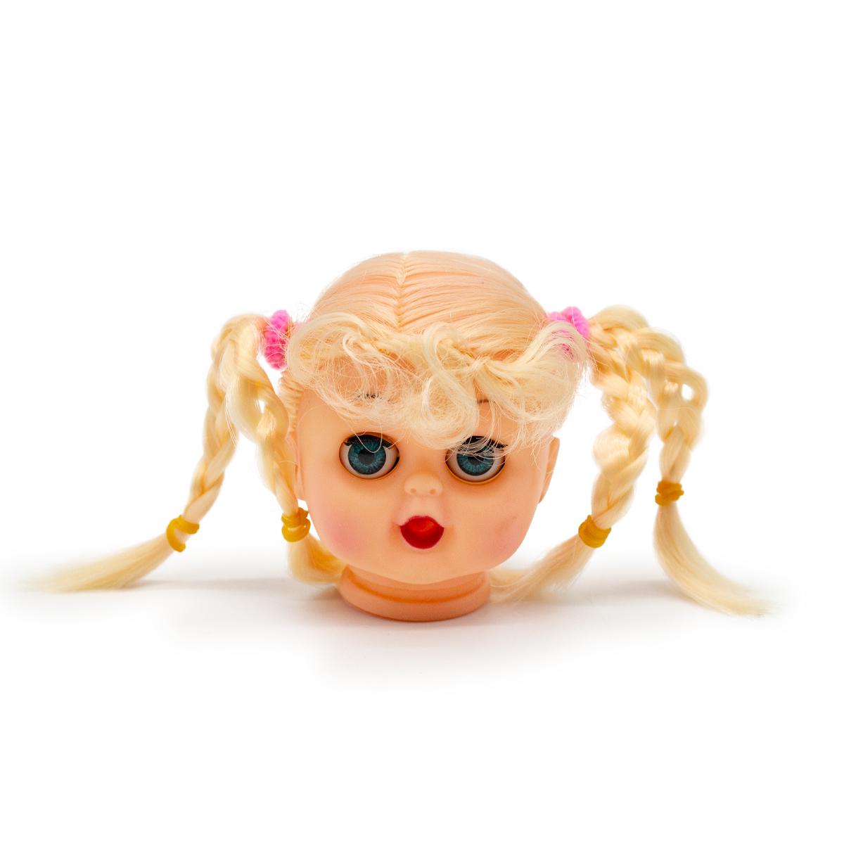 Голова куклы с волосами 7 см