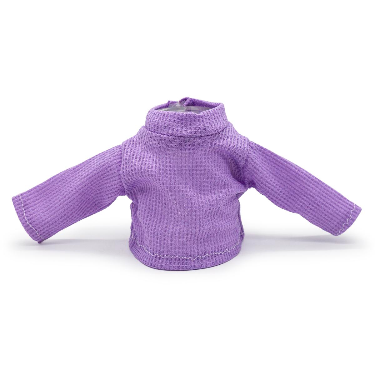 Рубашка для куклы (сиреневая)