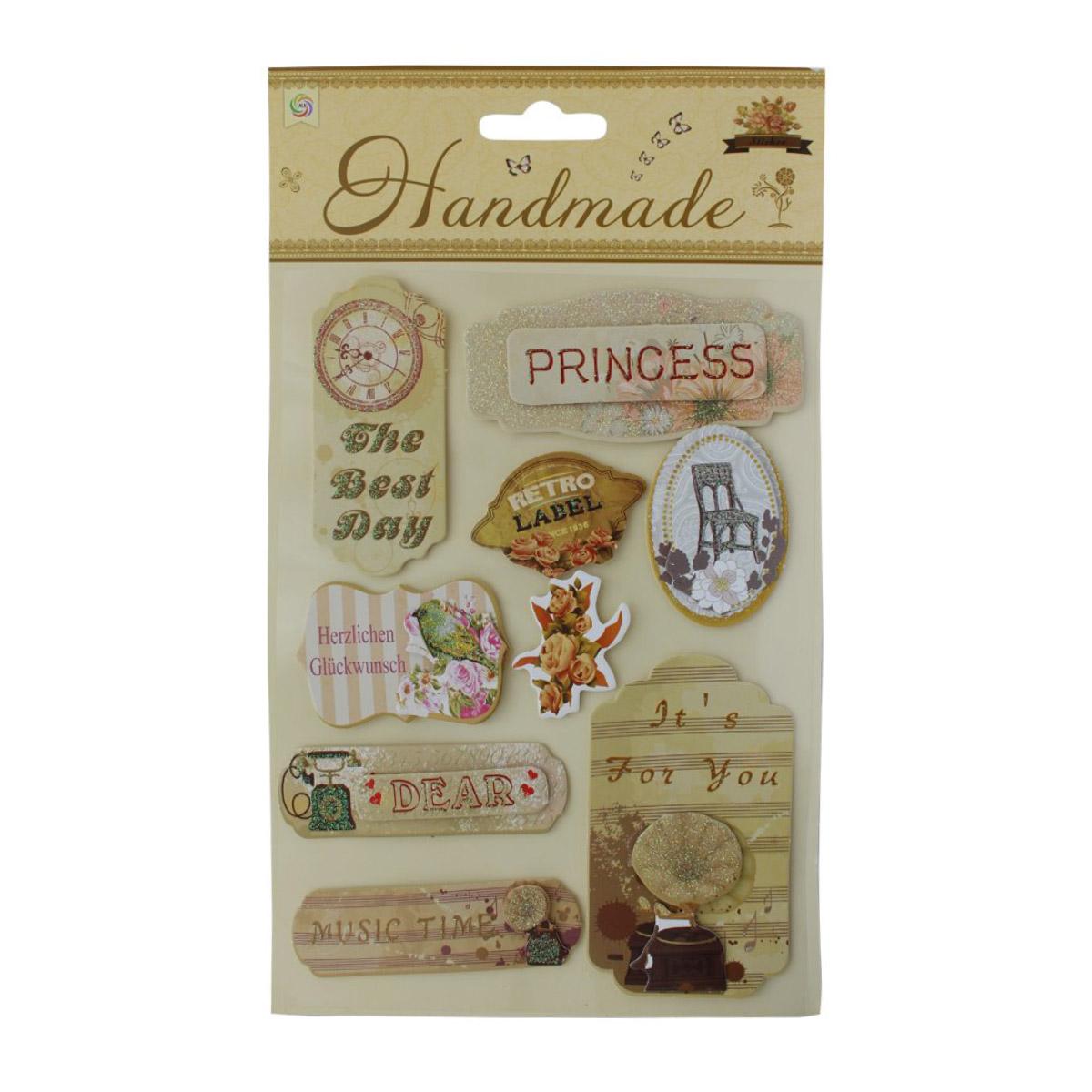 VIP-M012 Наклейки 3D 'Handmade' Принцесса