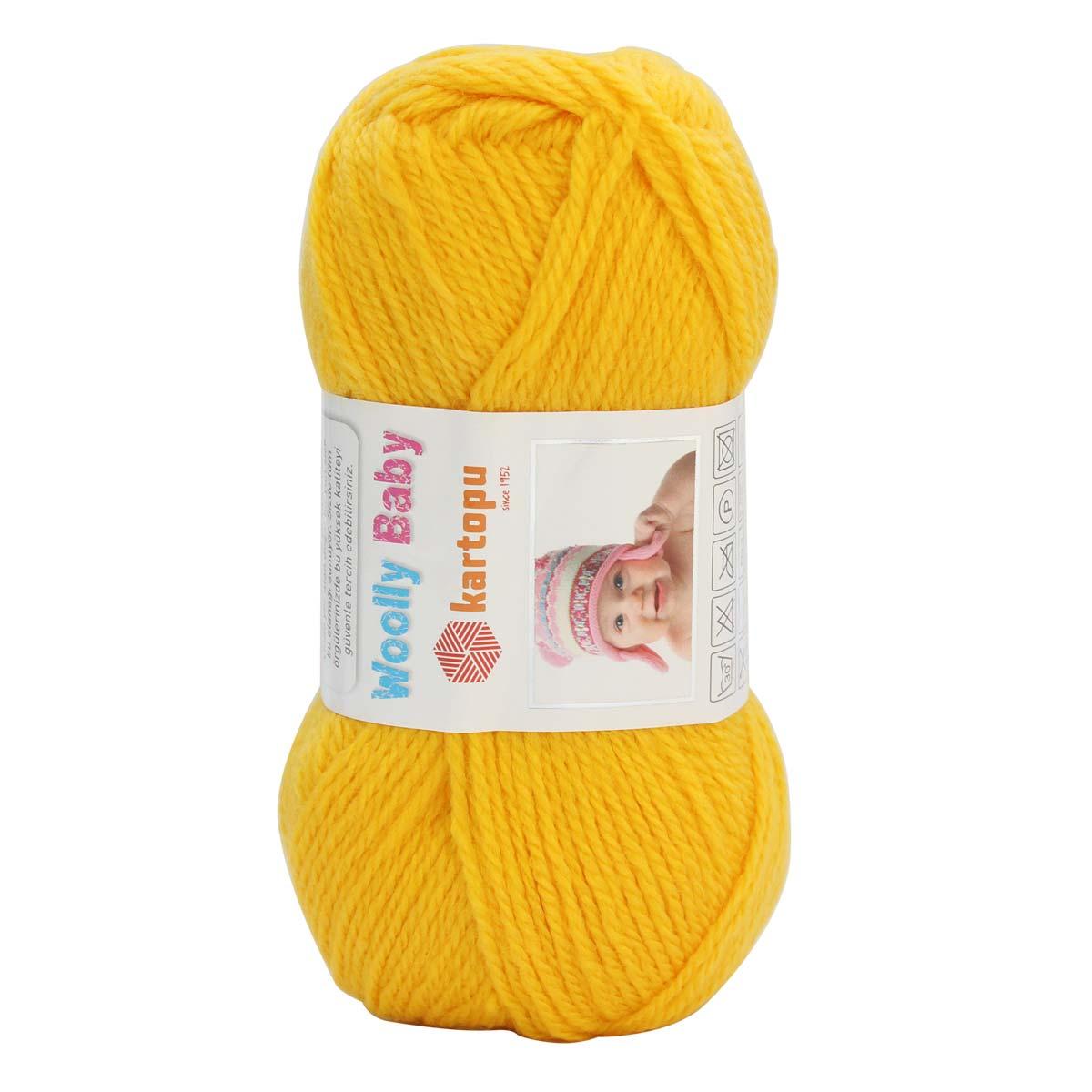 Пряжа KARTOPU 'Wolly Baby' 50гр. 148м (50% акрил,30% шерсть, 20% полиамид)
