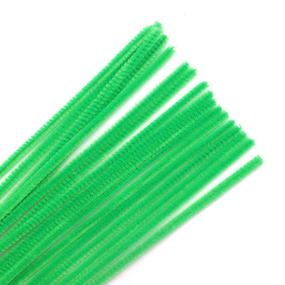 Синель-проволока, 6мм*30см, 30шт/упак, Астра (A-035 св.зеленый) фото