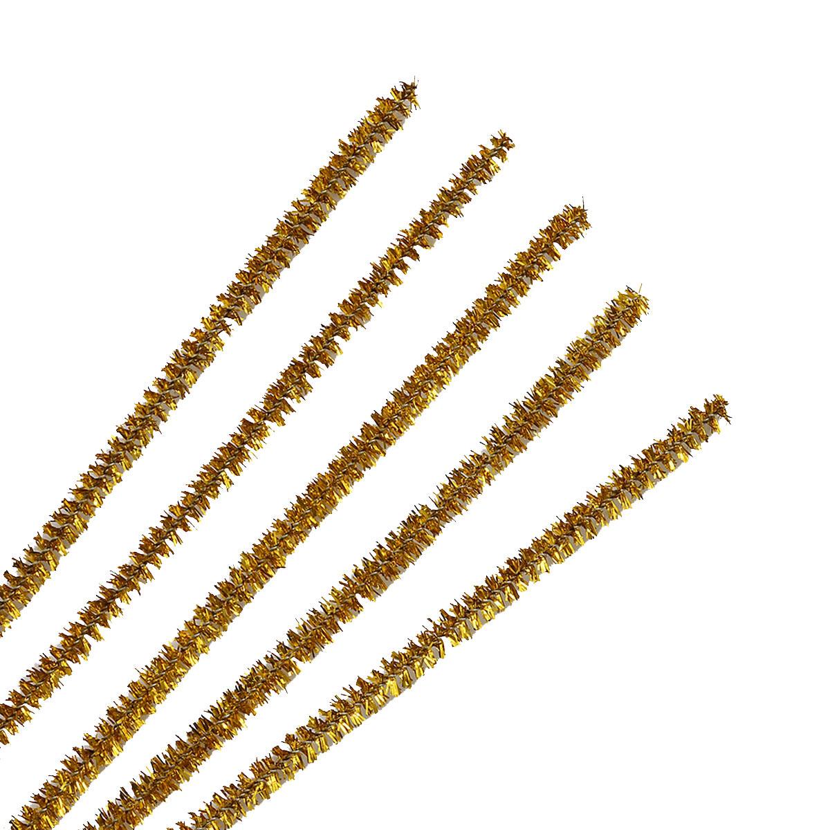 Синель-проволока люрекс, 6 мм*30см, 20шт/упак, Астра