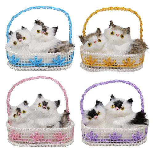 Игрушка. Кошки в лукошке, 7*12 см