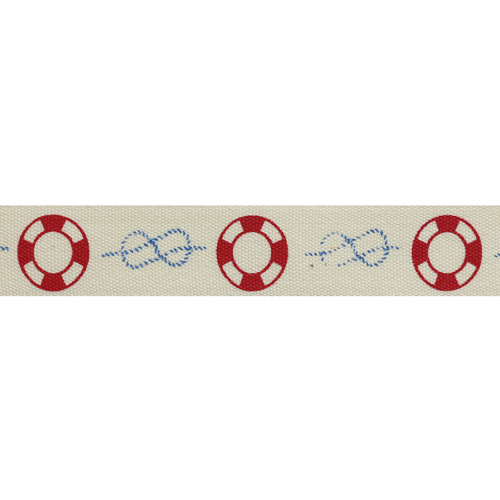 CP501 Лента декоративная 'Спасательный круг' 100% хб, 15мм*25м