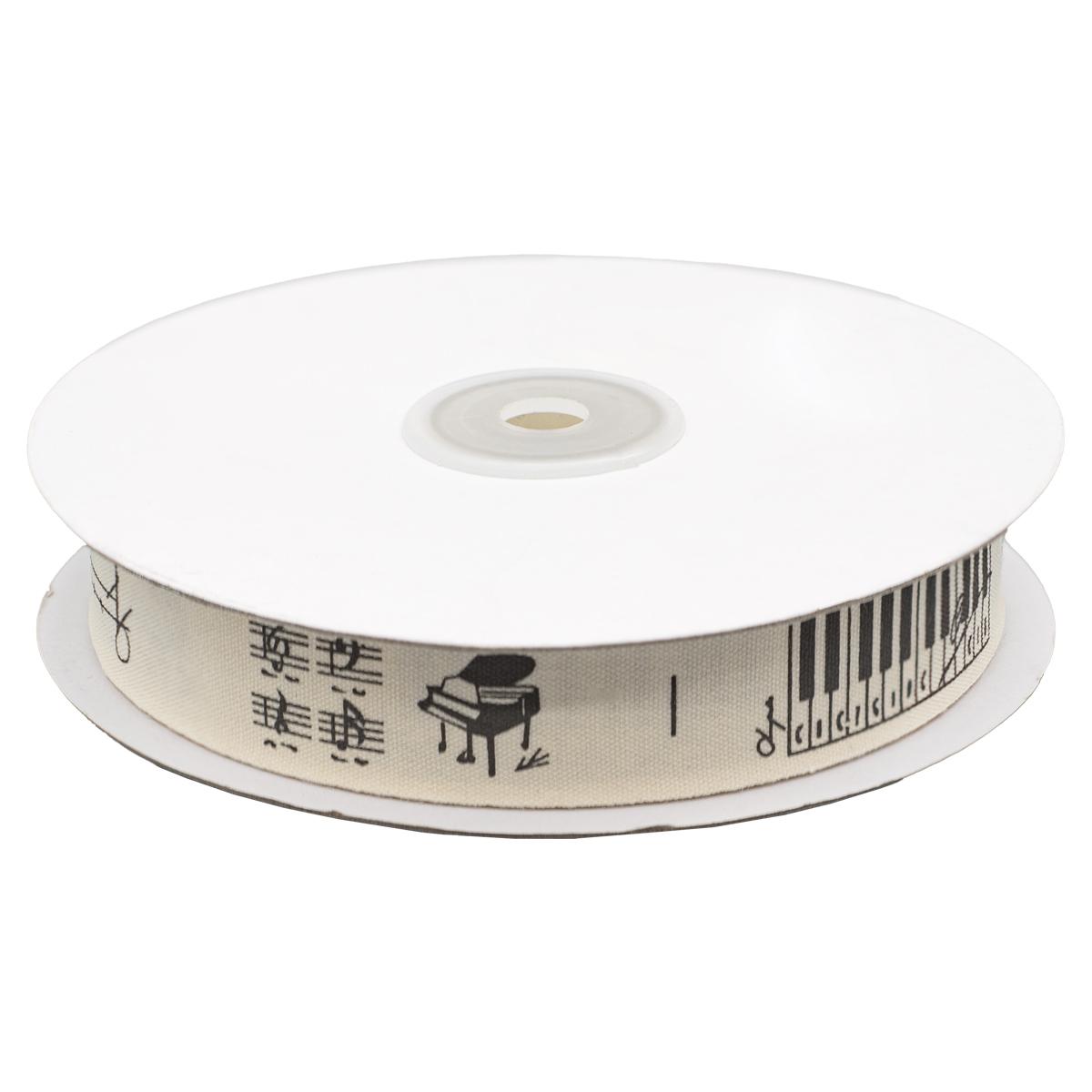 CPR021 Лента декоративная 'Музыка' 100% хб, 20мм*25м