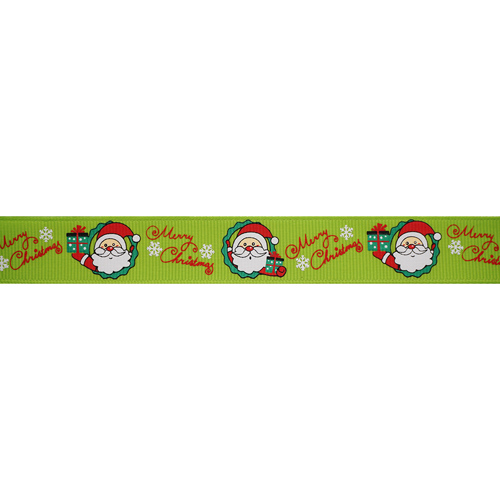 Лента репсовая 'Веселый Санта' 20мм*22,5м