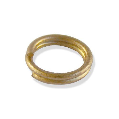 Кольцо для бус, двойное, 0,8*7мм, 100шт/уп