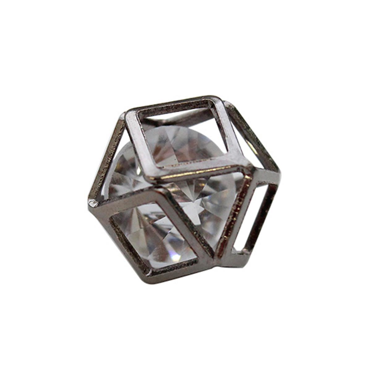 Бусина-коробочка со стразом 'Куб', 2шт/упак