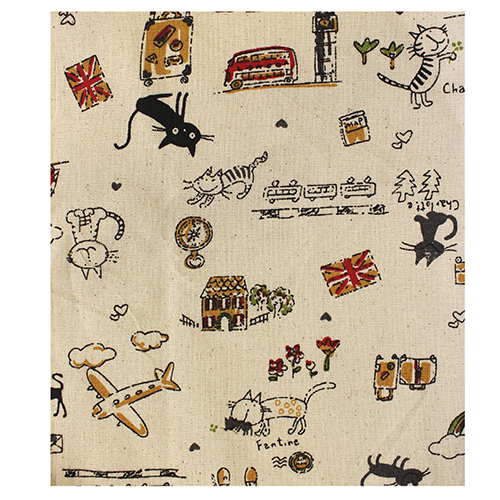 Ткань декоративная 'Коты-туристы', 48*48 см