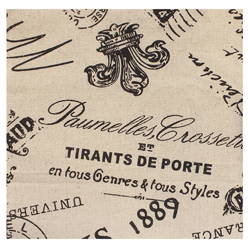 Ткань декоративная 'Письмо в Париж', 48*48 см
