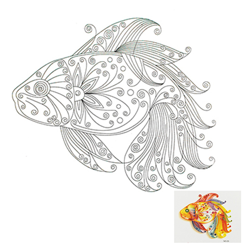 25 Набор для квиллинга 'Золотая рыбка'