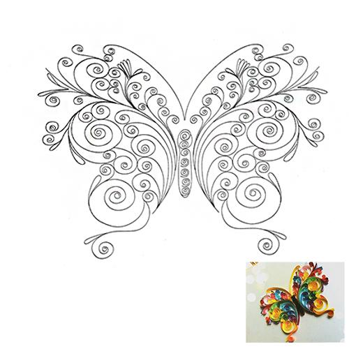 29 Схема для квиллинга 'Бабочка'