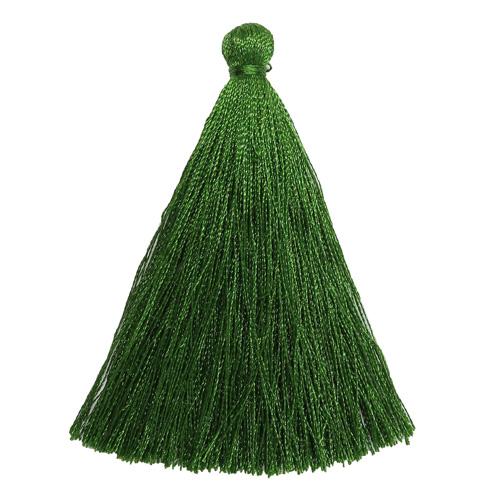 Кисть шторная декоративная 6,5см, полиэстер (зеленый) фото