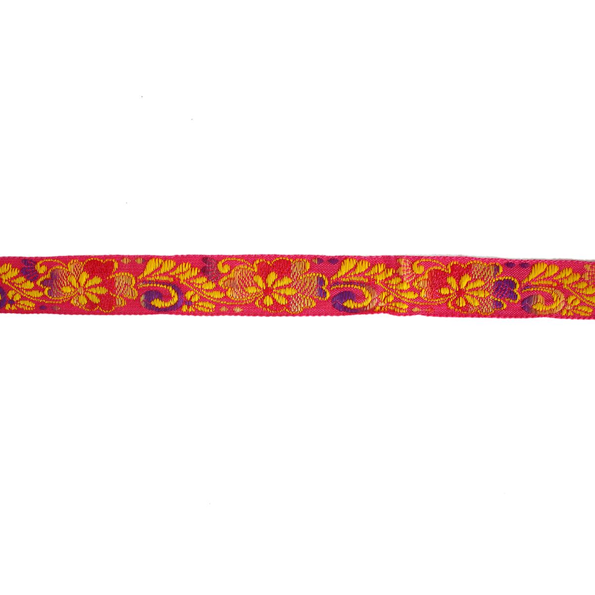 1354 Тесьма жаккард 'Цветочный узор' 2см*10м (9,14м) ДУ