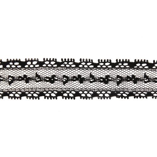 741-1 Кружево на сетке 2,5см*50ярд (45,7м) ДУ