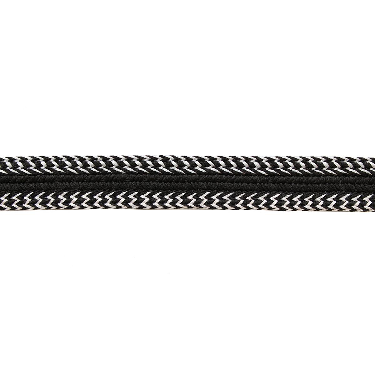 8657 Тесьма 20мм*16,5м (черный-белый) фото