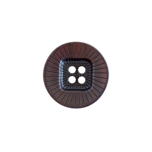 ZH1669 Пуговица на прокол M 22мм (коричневый) фото