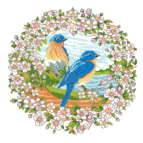 Набор для вышивания 'Весна' 35*35 см