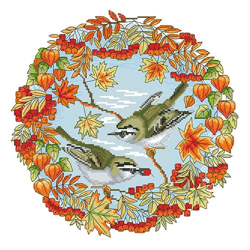 Набор для вышивания 'Осень' 35*35 см