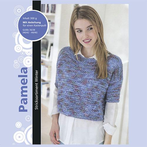 Набор для вязания пуловера 'Pamela' 6*50гр, 6*60м (52% полиакрил, 44% шерсть, 4% полиамид)