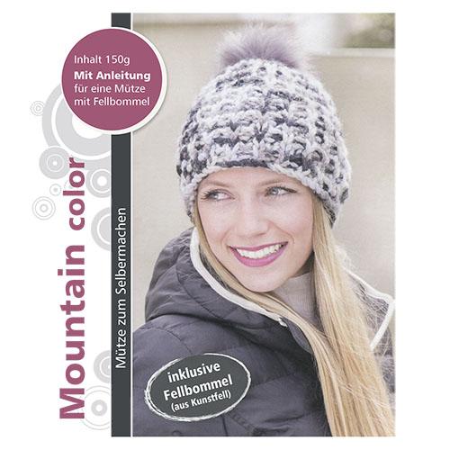 Набор для вязания шапки 'Mountain' 3 х 50 гр 3 х 30 м (90% полиакрил, 10% шерсть)