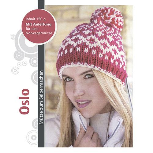 Набор для вязания шапки 'Oslo' 3*50гр, 3*50м (70% полиакрил, 30% шерсть)