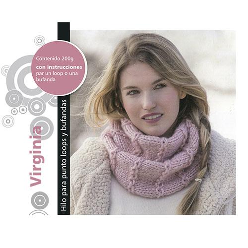 Набор для вязания шарфа 'Virginia' 2*100гр, 2*93м (62% полиамид, 38% полиакрил)