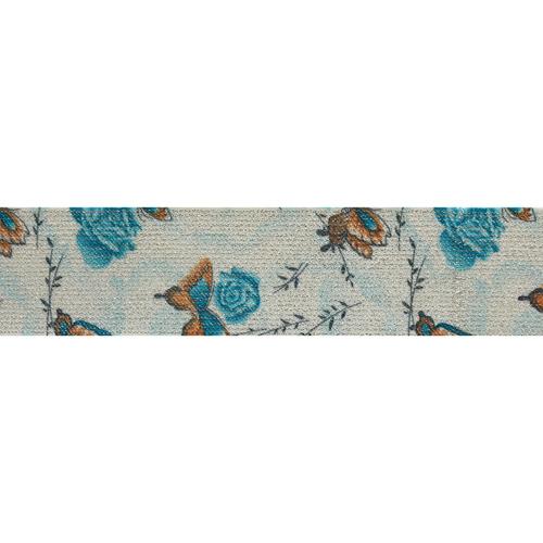 Эластичная тесьма с метанитью 'Голубые бабочки'5см*22м