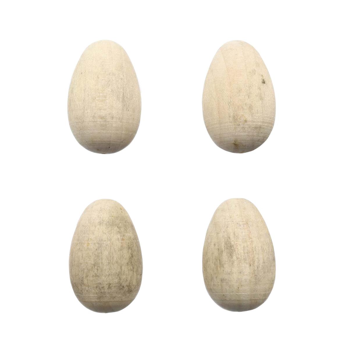 Деревянная заготовка Яйцо 3,2см, 4 шт/упак